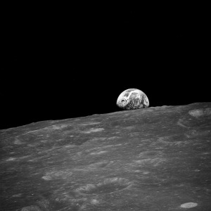 Earthrise in Black and White