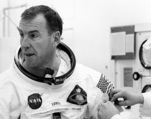Jim Lovell Suiting-Up for Apollo 8