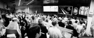 Mission Control celebrates the recovery of the Apollo 13 crew